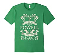 Team Powell Last Name Gifts Vintage Legend Family Tshirt Forest Green