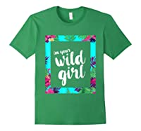 Funny Free Woman T Shirt Frame Of Flora And Fauna Forest Green