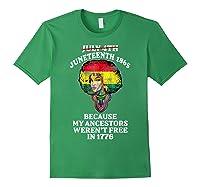 Ancestors Black African American Flag T Shirt Forest Green