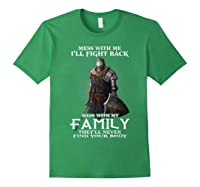 Mess With My Family Knight Tshirt Forest Green