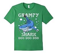 Grampy Shark Shirt Fathers Day Gift T-shirt Forest Green