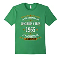 Birthday T Shirt Gift For Latino Born In 1965 Forest Green