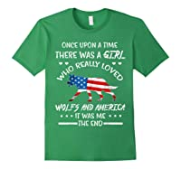 Once Upon A Time Wolf America 4th Of July T Shirt Gifts Forest Green