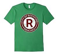 Baseball Tshirt Rockford Peaches Shirt Feminist Graphic Tees Forest Green