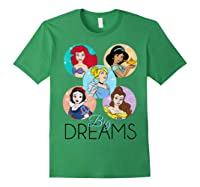 Princess Big Dreams Sparkle Character Bubbles Shirts Forest Green