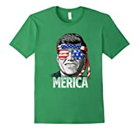 Kennedy Merica 4th Of July President Jfk Gifts Shirts Forest Green