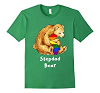 Stepdad Bear Proud Dad Lgbt Gay Pride Lgbt Dad Gifts Shirts Forest Green