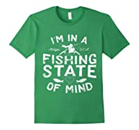 Michigan I'm In A Fishing State Of Mind Vacation Shirts Forest Green