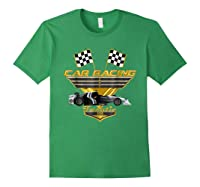 Car Racing Fanatic 500 Miles T Shirt Golden Edition Forest Green