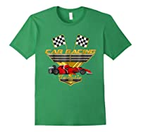 Car Racing Fanatic 500 Miles T Shirt Red Car Edition Forest Green