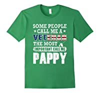 S Some People Call Me A Veteran Pappy Tshirt Fathers Day Forest Green