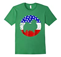 American Flag Japanese Chin Japanese Chin Dog Shirts Forest Green