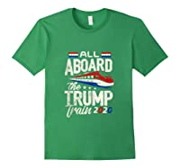 Trump Supporter Shirt All Aboard The Trump Train 2020 Gift Tank Top Forest Green