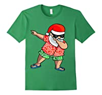 Dabbing Santa Christmas In July Hawaiian Shirt Gift Forest Green