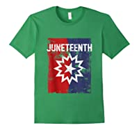 Junenth Black American African History Freedom Day Shirts Forest Green