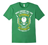 Electrician Funny T-shirt Electricity Sparky Humor Forest Green