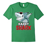 Dabbing Daddy Shark Fathers Day Gift Matching Shirts Forest Green