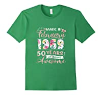 Made In February 1969 T Shirt 50 Years Of Being Awesome Forest Green