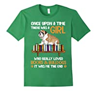 There Was A Girl Loved Book And Bulldogs Tshirt Gifts Forest Green