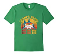 Retro Vintage Style Grampa Shark Gift For Father Dad Shirts Forest Green