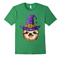 Sloth Witch T Shirt Halloween Girls Funny Costume Forest Green