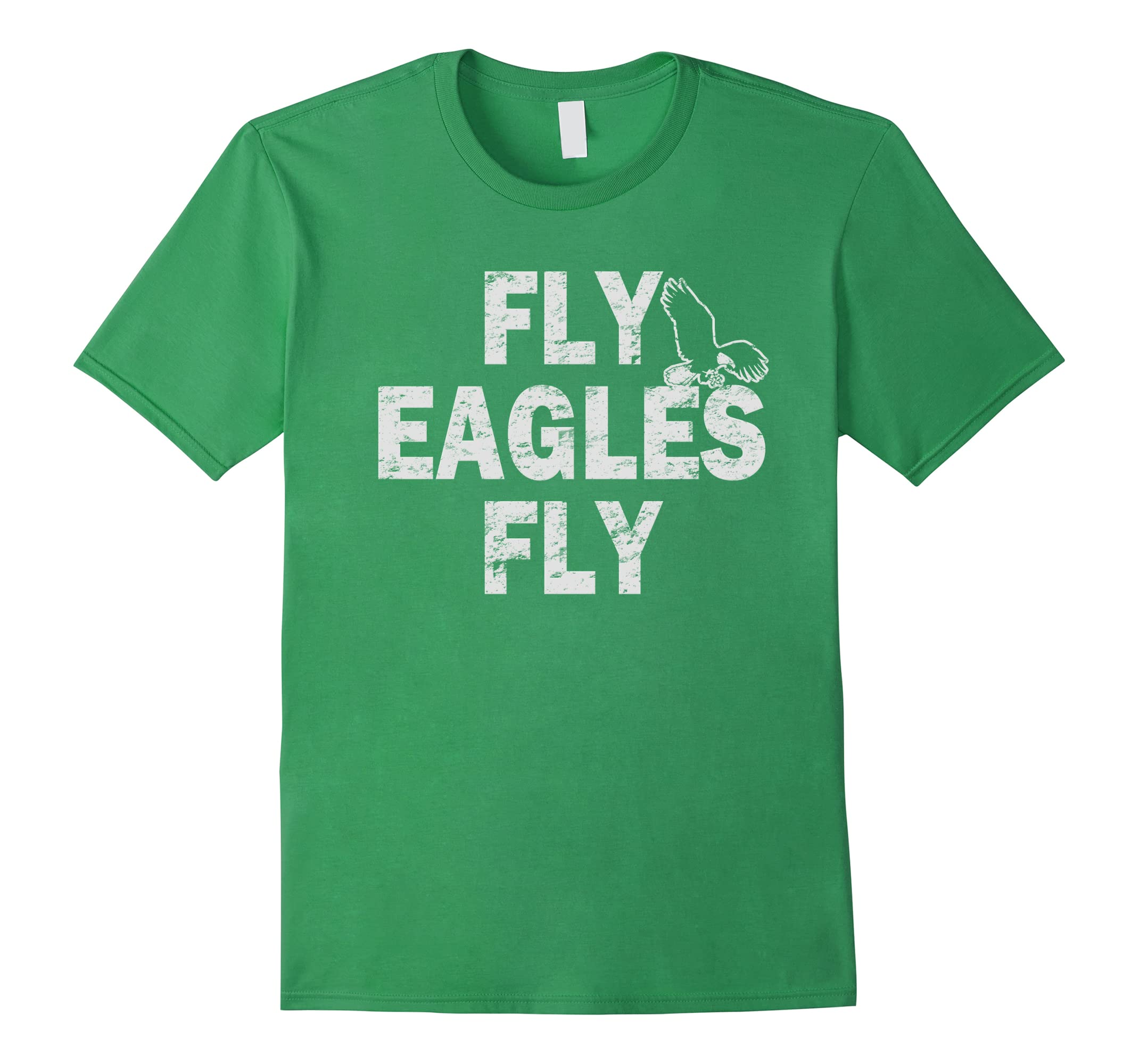 Vintage Fly Eagles Fly Green and White-ah my shirt one gift