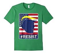 Resist Protest Rebel Political Anti Trump Impeach T Shirt Forest Green