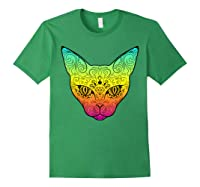 Techno Trance Edm Club Day Of The Dead Cat Sugar Skull Shirts Forest Green