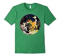 Disney Bambi Forest Scene T Shirt Forest Green