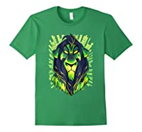 Lion King Evil Scar Graphic Shirts Forest Green