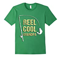 Reel Cool Dad Funny Fishing Fathers Day Gift Shirts Forest Green