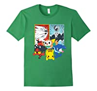 Alola Starters With Legendaries Shirts Forest Green