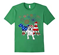 Labrador 4th Of July America Flag Gifts Shirts Forest Green