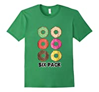 Funny Donut Six Pack Muscle T Shirt Forest Green