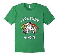 Free Mom Hugs Rainbow Gray Pride Lgbt Funny Tank Top Shirts Forest Green