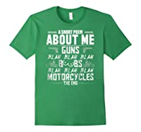 A Short Poem About Me Gun Motorcycles The End Shirts Forest Green