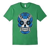 Scottish Flag Sugar Skull Shirts Forest Green