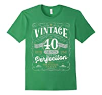Vintage 40th Birthday Shirt, 1979, Aged To Perfection Forest Green
