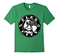 Flex City Feed Me More Nutrition T Shirt Forest Green