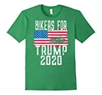 (print On Back) Bikers For Trump T-shirt Motorcycle Rally Forest Green