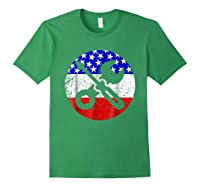 American Flag Car Mechanic Shirt - Screwdriver Wrench Shirt Forest Green