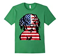 Funny Hovawart American Flag 4th Of July Shirts Forest Green