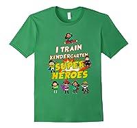 Train Kindergarten Super Heroes Gift For Tea Shirts Forest Green