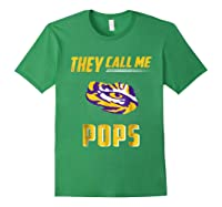 Lsu Tigers They Call Me Pops T-shirt - Apparel Forest Green