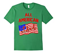 All American Dad 4th Of July Independence Day Shirts Forest Green