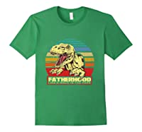 Fatherhood Like A Walk In The Park Father's Day Gif Shirts Forest Green