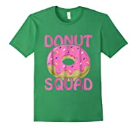 Pink Donut Squad Birthday Shirts Forest Green