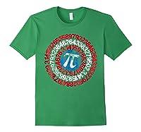 Captain Pi Superhero Shield Funny Math Pi Day Shirts Forest Green