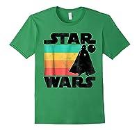 S Darth Vader Retro Stripes Baby Death Star Shirts Forest Green