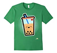 Boba Milk Tea Bubbles T-shirt Forest Green